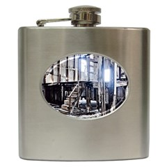 House Old Shed Decay Manufacture Hip Flask (6 Oz)