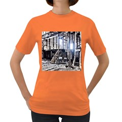 House Old Shed Decay Manufacture Women s Dark T Shirt