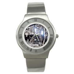 House Old Shed Decay Manufacture Stainless Steel Watch
