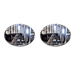 House Old Shed Decay Manufacture Cufflinks (oval)