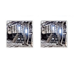 House Old Shed Decay Manufacture Cufflinks (square)