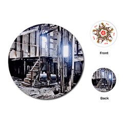 House Old Shed Decay Manufacture Playing Cards (round)