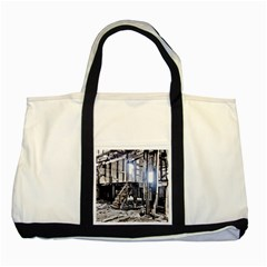 House Old Shed Decay Manufacture Two Tone Tote Bag