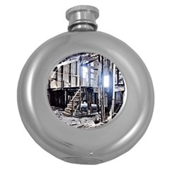 House Old Shed Decay Manufacture Round Hip Flask (5 Oz)