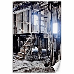 House Old Shed Decay Manufacture Canvas 12  X 18