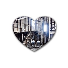 House Old Shed Decay Manufacture Heart Coaster (4 Pack)