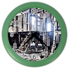 House Old Shed Decay Manufacture Color Wall Clocks