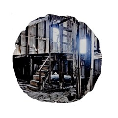 House Old Shed Decay Manufacture Standard 15  Premium Round Cushions