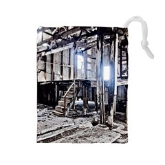 House Old Shed Decay Manufacture Drawstring Pouches (large)