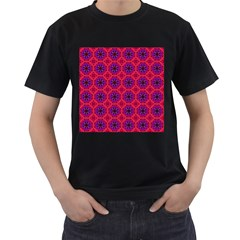 Retro Abstract Boho Unique Men s T Shirt (black) (two Sided)