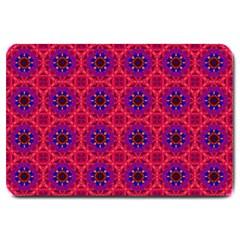 Retro Abstract Boho Unique Large Doormat