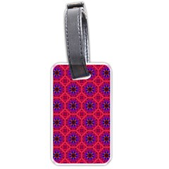 Retro Abstract Boho Unique Luggage Tags (one Side)