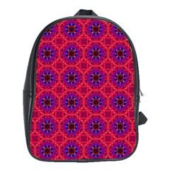 Retro Abstract Boho Unique School Bag (xl)