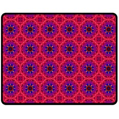 Retro Abstract Boho Unique Double Sided Fleece Blanket (medium)