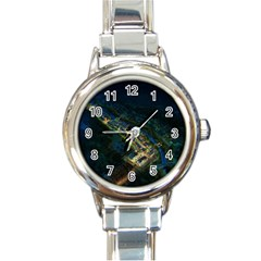 Commercial Street Night View Round Italian Charm Watch