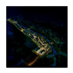 Commercial Street Night View Tile Coasters