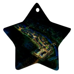 Commercial Street Night View Ornament (star)