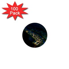 Commercial Street Night View 1  Mini Magnets (100 Pack)
