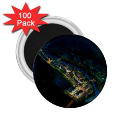 Commercial Street Night View 2 25  Magnets (100 Pack)