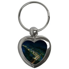 Commercial Street Night View Key Chains (heart)