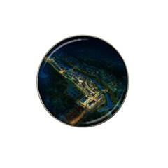 Commercial Street Night View Hat Clip Ball Marker (4 Pack)