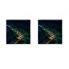 Commercial Street Night View Cufflinks (square)