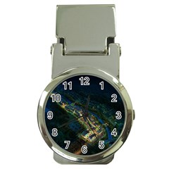 Commercial Street Night View Money Clip Watches