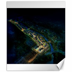 Commercial Street Night View Canvas 8  X 10