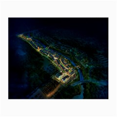 Commercial Street Night View Small Glasses Cloth (2 Side)