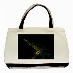 Commercial Street Night View Basic Tote Bag (two Sides)