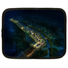 Commercial Street Night View Netbook Case (large)