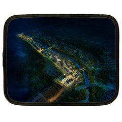Commercial Street Night View Netbook Case (xxl)
