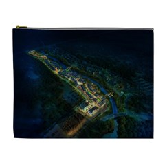 Commercial Street Night View Cosmetic Bag (xl)