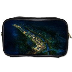 Commercial Street Night View Toiletries Bags 2 Side