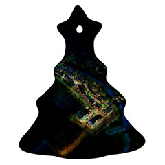 Commercial Street Night View Christmas Tree Ornament (two Sides)