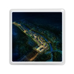 Commercial Street Night View Memory Card Reader (square)