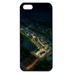 Commercial Street Night View Apple Iphone 5 Seamless Case (black)