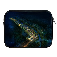 Commercial Street Night View Apple Ipad 2/3/4 Zipper Cases