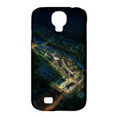 Commercial Street Night View Samsung Galaxy S4 Classic Hardshell Case (pc+silicone)