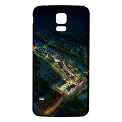 Commercial Street Night View Samsung Galaxy S5 Back Case (white)