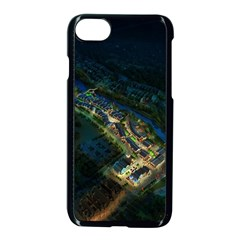 Commercial Street Night View Apple Iphone 8 Seamless Case (black)