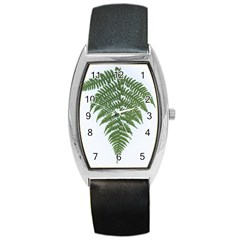 Boating Nature Green Autumn Barrel Style Metal Watch