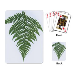 Boating Nature Green Autumn Playing Card