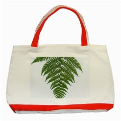 Boating Nature Green Autumn Classic Tote Bag (red)