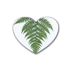 Boating Nature Green Autumn Heart Coaster (4 Pack)