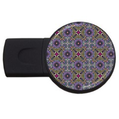 Vintage Abstract Unique Original Usb Flash Drive Round (2 Gb)