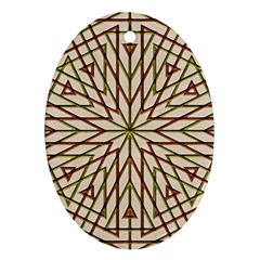 Kaleidoscope Online Triangle Ornament (oval)