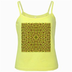 Kaleidoscope Online Triangle Yellow Spaghetti Tank