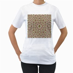 Kaleidoscope Online Triangle Women s T Shirt (white)