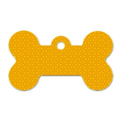 Texture Background Pattern Dog Tag Bone (two Sides)